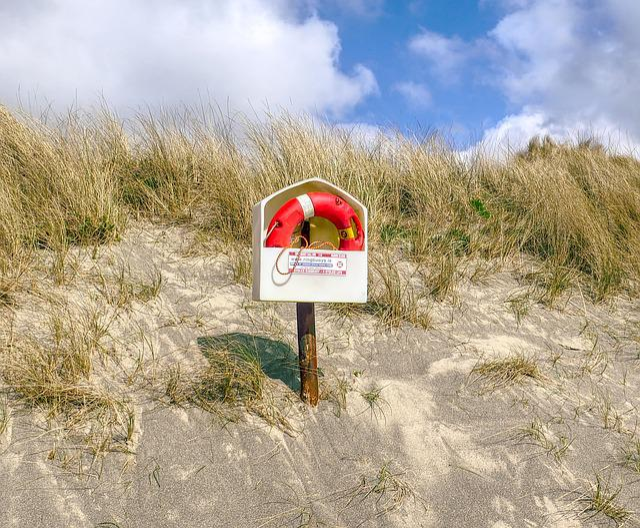 Lifebuoy, Life Ring, Beach, Safety