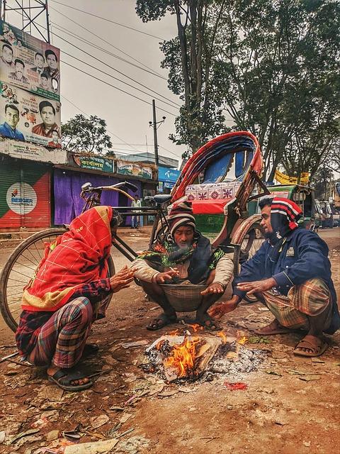 Winter, Morning, Life Style, Poor People, Bangladesh