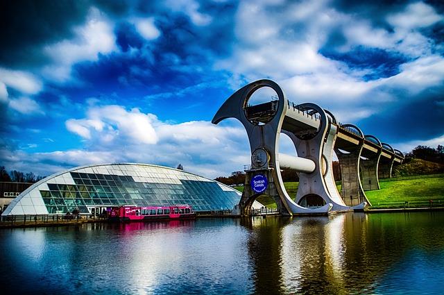 Falkirk, Wheel, Canal, Engineering, Lift, Scotland