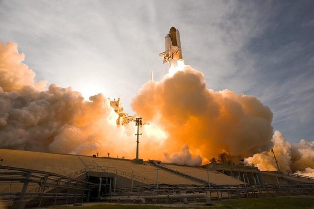 Space Shuttle, Rocket, Lift-off, Liftoff, Nasa