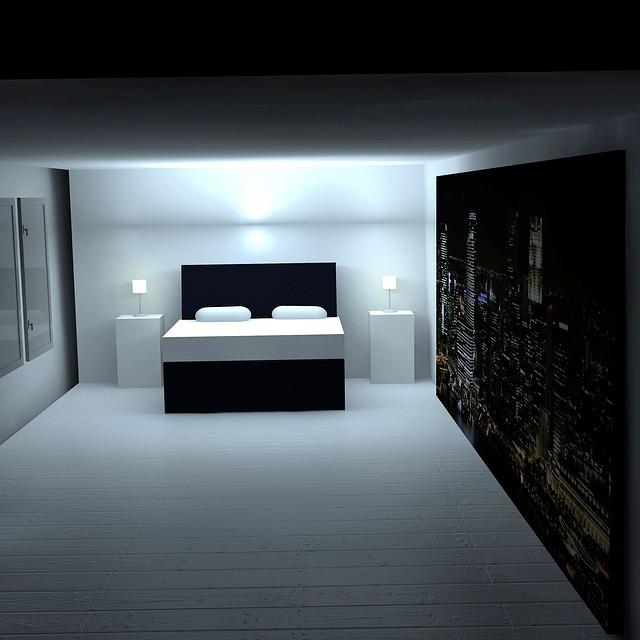 Space, Bed, Bedroom, Sleeping Room, Light