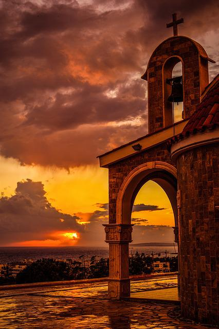 Church, Architecture, Arch, Belfry, Sunset, Light