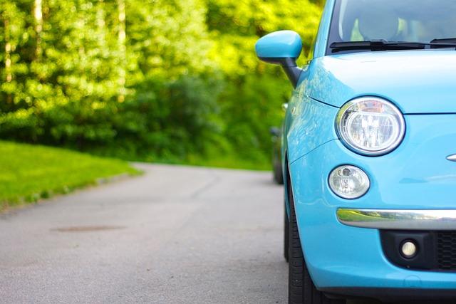 Car, Parked Car, Light Blue, Parked, Transport, Auto