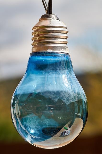 Light Bulb, Blue, Light, Lamp, Hell, Light Body