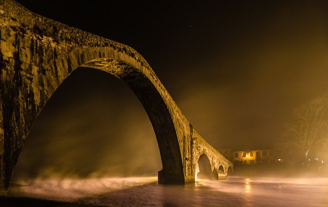 Travel, Bridge, Architecture, Light, Waters