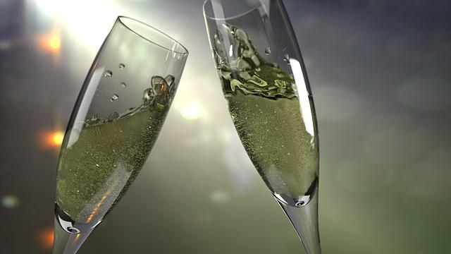 Cup, Glass, šanpanské, Bubbles, Light, New Year's Eve