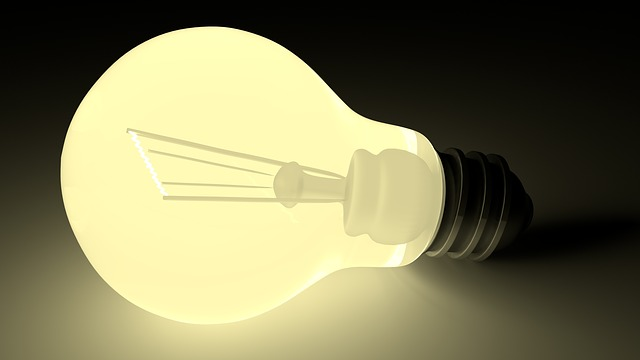 Light Bulb, Darkness, Light, Glow