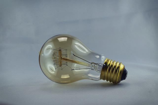 Light Bulb, Disappearing, Vintage Light Bulb