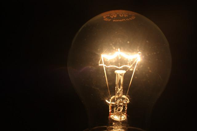 Light Bulb, Light, Lighting, Pear, Disappearing