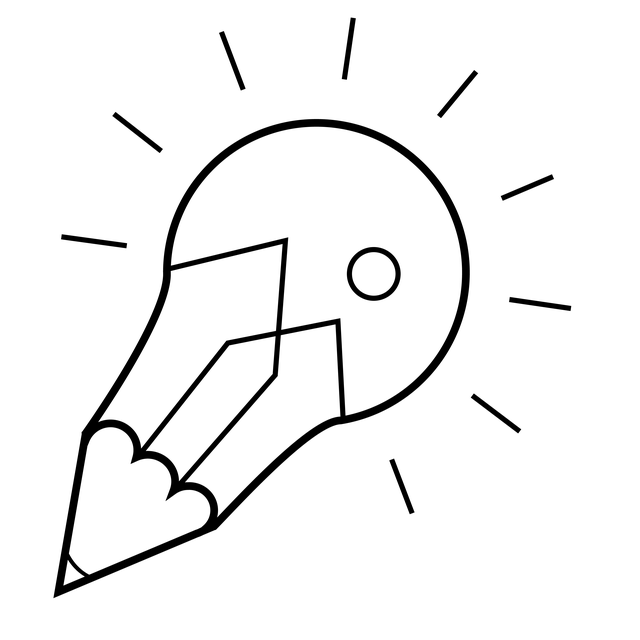 Icon, Light, Idea, Light Bulb, Pencil, Pen