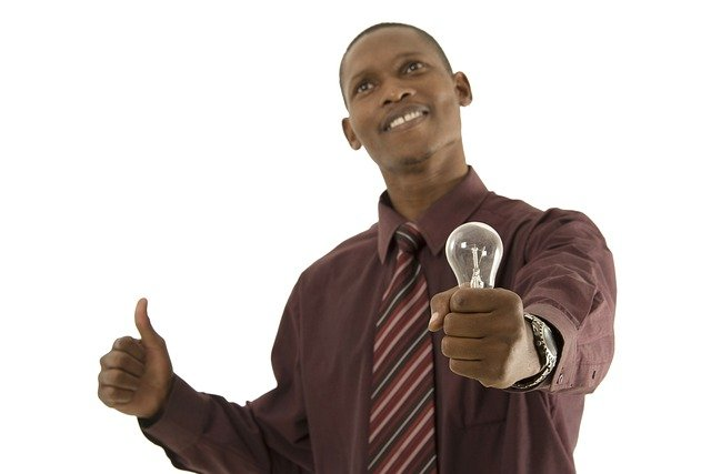 Man, Person, Top, Bulb, African, Idea, Light Bulg