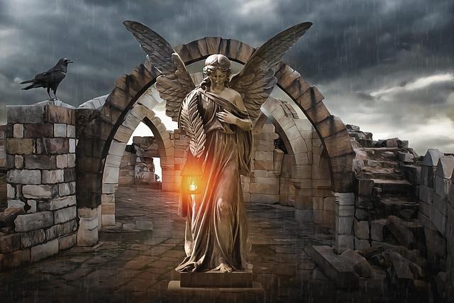 Ruins, Mausoleum, Mausoleum Ruins, Angel, Candle, Light