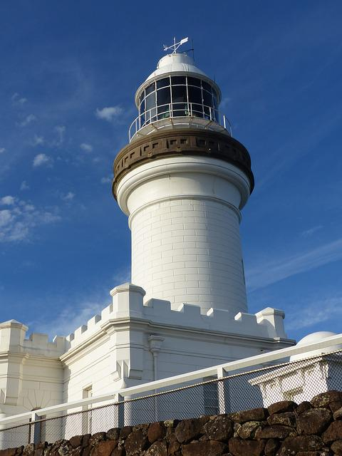 Cape Byron Lighthouse, Ocean, Light, Coast, Warning