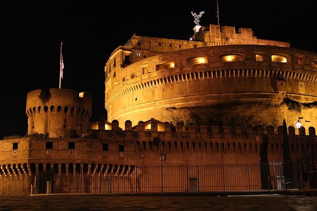Borg, Evening, Light, Castle, Fortress, Rome