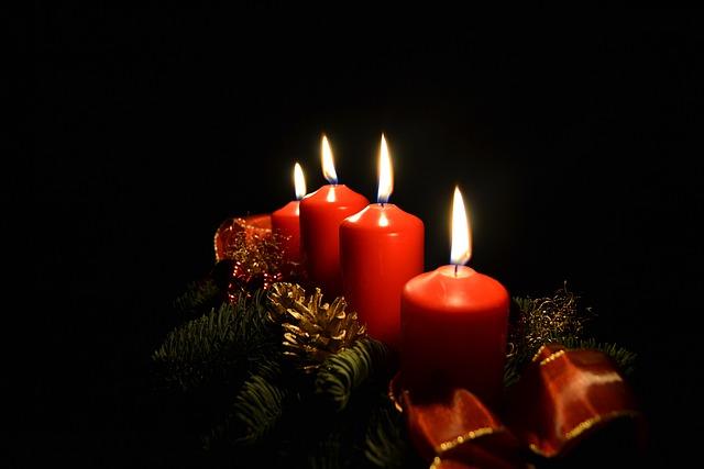 Advent, Candles, Light, Christmas, Advent Wreath
