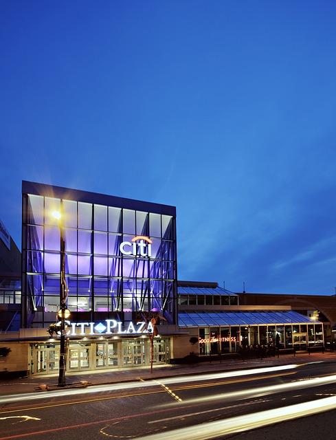 Architecture, Building, Citi Plaza, Light
