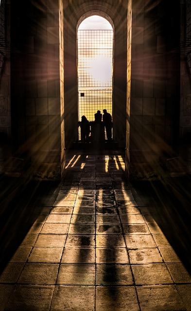 View, Shadows, Aisle, People, Corridor, Hallway, Light