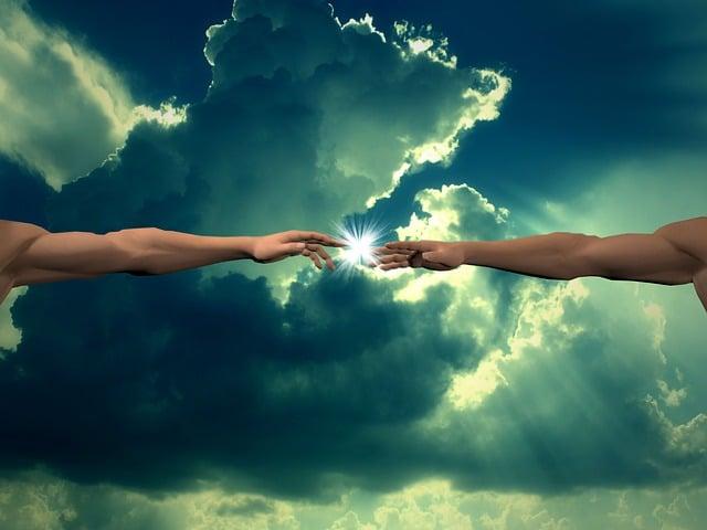 Creation, God Finger, Clouds, Light, Finger Of God