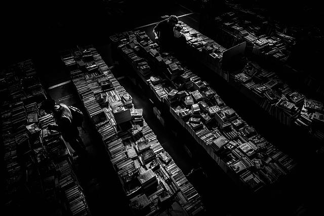 Book Store, Books, Couple, Dark, Light, People, Pile