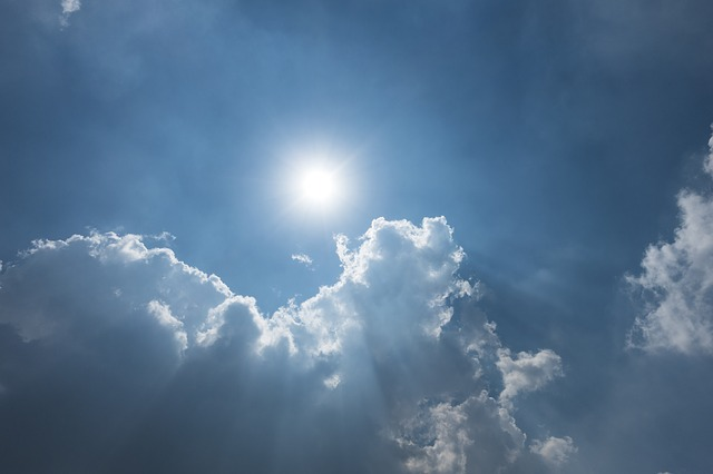 Sun, Cloud, Light, Blue Sky And White Clouds, Day, Sky