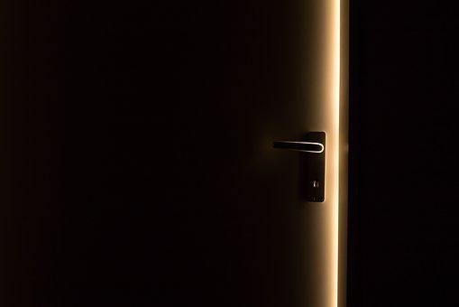 Dark, Door, Door Handle, Light