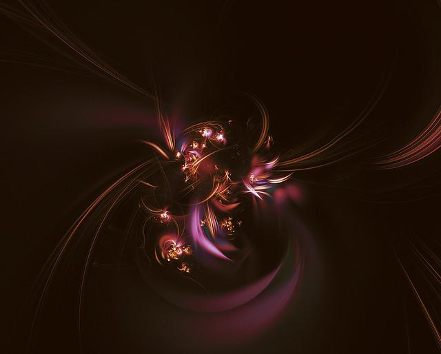 Fractal, Light Fractal, Flower Bud, Light Flowers