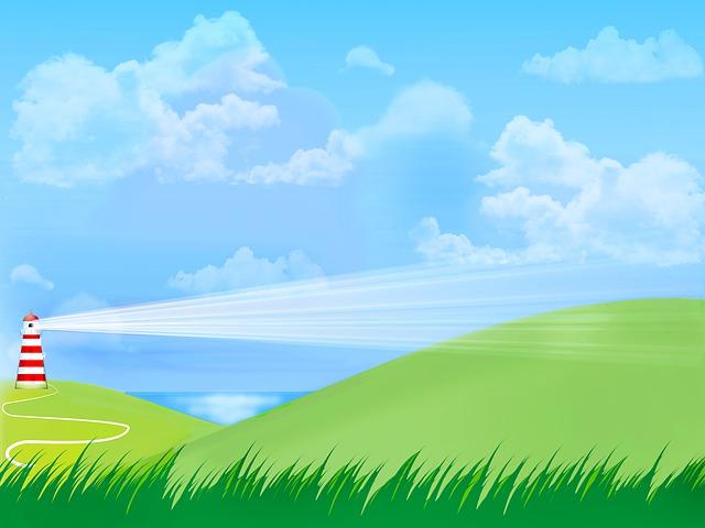 Landscape With Sea, Light House, Sky, Clouds