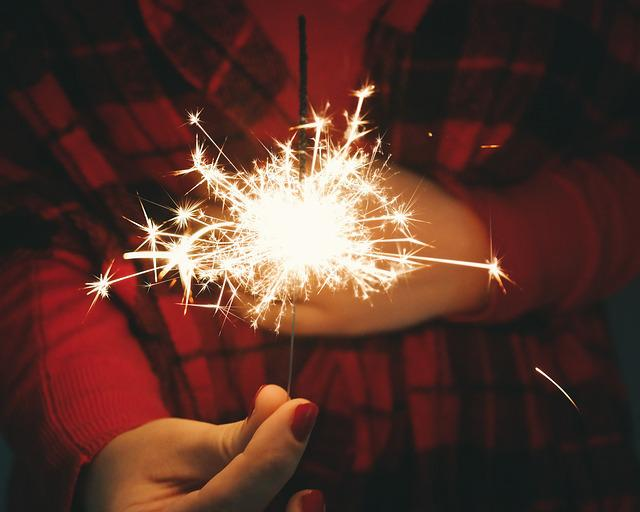 Dark, Night, Spark, Light, Fireworks, People, Hand