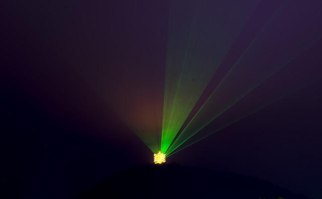 Phoenix, Light, Night View, Laser, Lamp