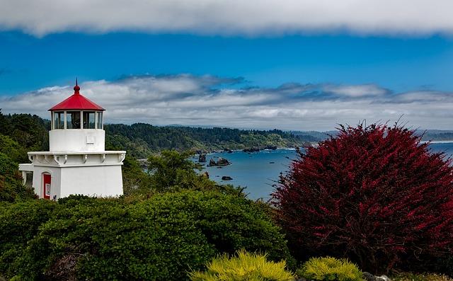 Trinidad Memorial Lighthouse, Light, California, Ocean