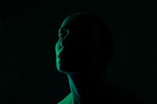 Green, Face, Light, Portrait, Woman, Person, People