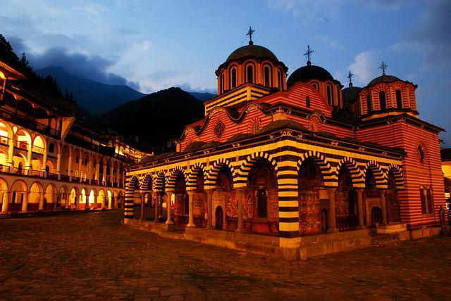 Rila Monastery, Bulgaria, Church, Lit, Light, Silence