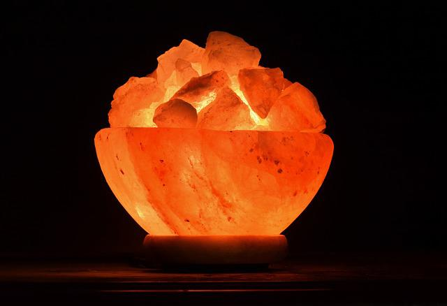 Light, Night Light, Salt Crystals, Salt Crystal Lamp