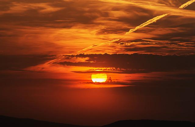 Sunset, Clouds, Colors, Sky, Light, Red, Color