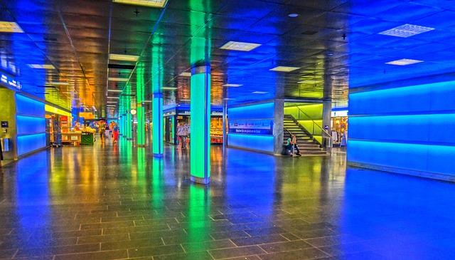Zurich, Light, Movement, Zurich Main Station