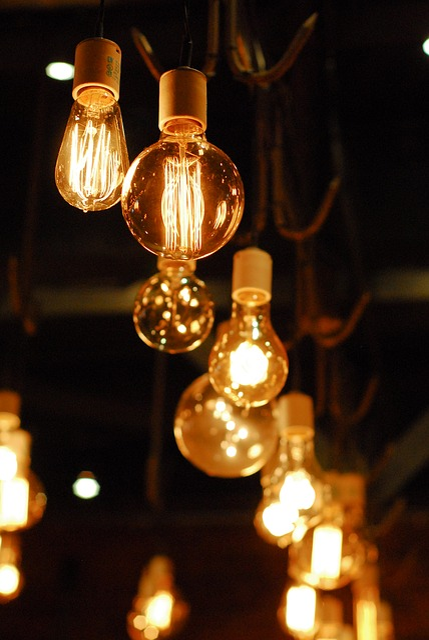 Lightbulb, Lighting, Night, Bulb, Filament, Fixture