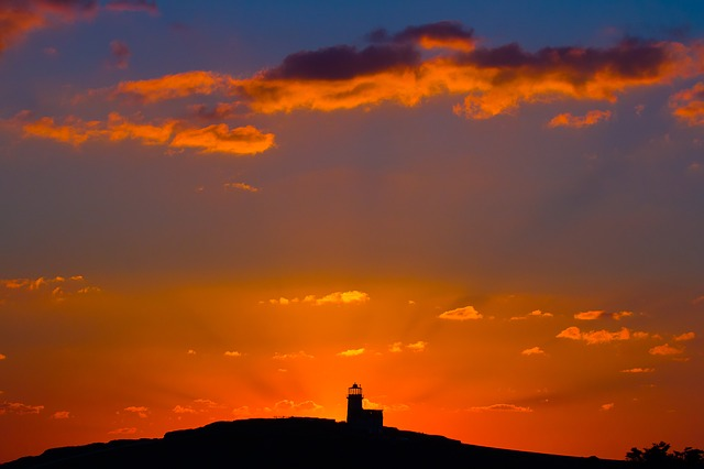 Beachy Head, Sunset, Lighthouse
