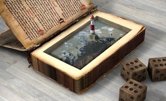 Lighthouse, Coast, Cube, Secrets, Book Contents, Beach