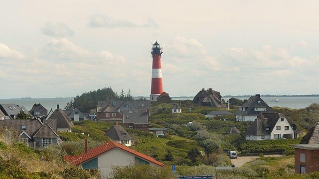 Lighthouse, Island End, Sylt, North Sea