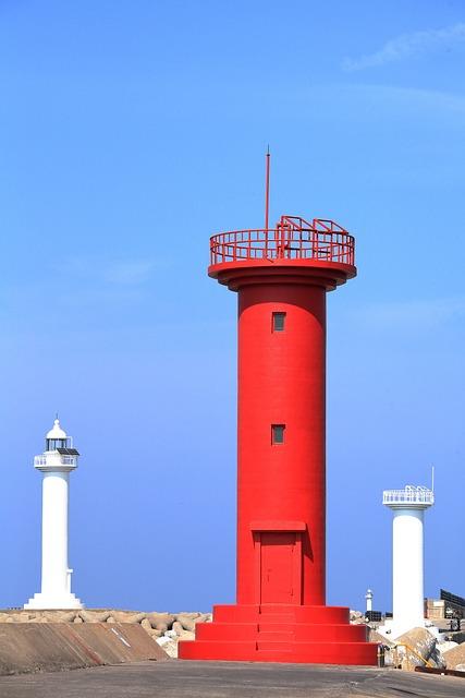 Lighthouse, Jeju Island, Landscape, Olle Gill