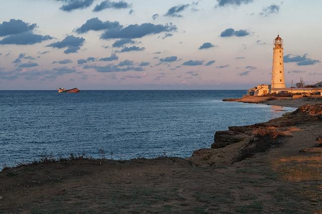 Sea, Coast, Journey, Seascape, Lighthouse, Sky, Sunset