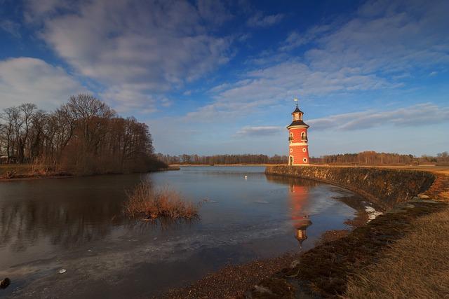 Lighthouse, Water, Moritz Castle, Idyllic