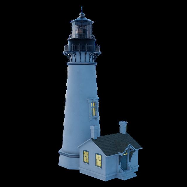 Lighthouse, Lighter, Sea, Ocean, Naval Science