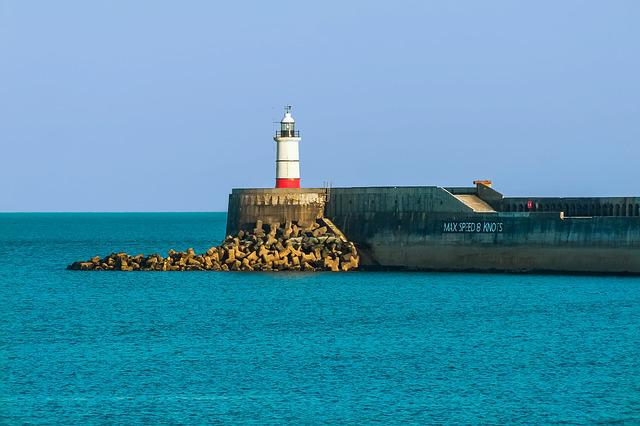 Newhaven, Lighthouse, Sea