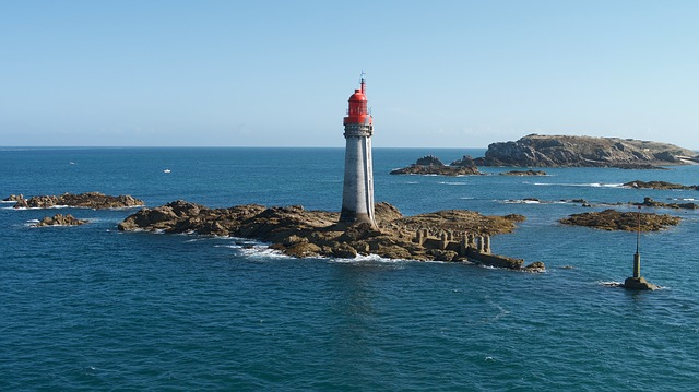 Lighthouse, Sea, Water, Ocean, Seashore