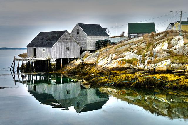 Nova Scotia, Canada, Peggy's Cove, Lighthouse