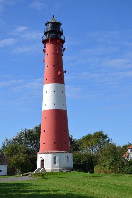 Lighthouse, Pellworm, North Sea, Wadden Sea, Island