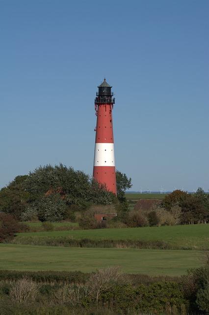 Lighthouse Pellworm, Pellwormer Lighthouse, Lighthouse