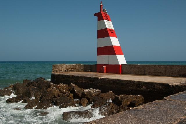 Portugal, Port, Lighthouse, Wharf