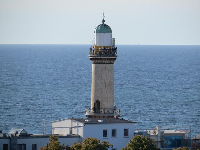 Warnemünde, Lighthouse, Baltic Sea, Seaside Resort